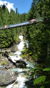 Suspension Bridge Waterfalls