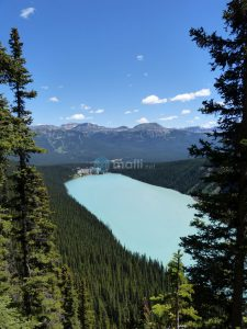 Plain of Six Glaciers Ausblick auf Chateau Lake Louise