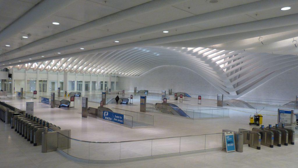 Oculus - Bahnhofhalle von innen