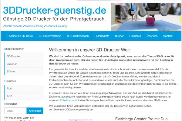 3DDrucker-guenstig.de / 129,- EUR