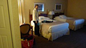 Angekommen im Hotel
