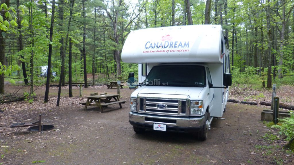 "Oka Nationalpark, Campground ""Le Refuge"""