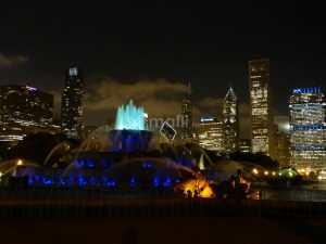 Buckingham Fountain bei Nacht