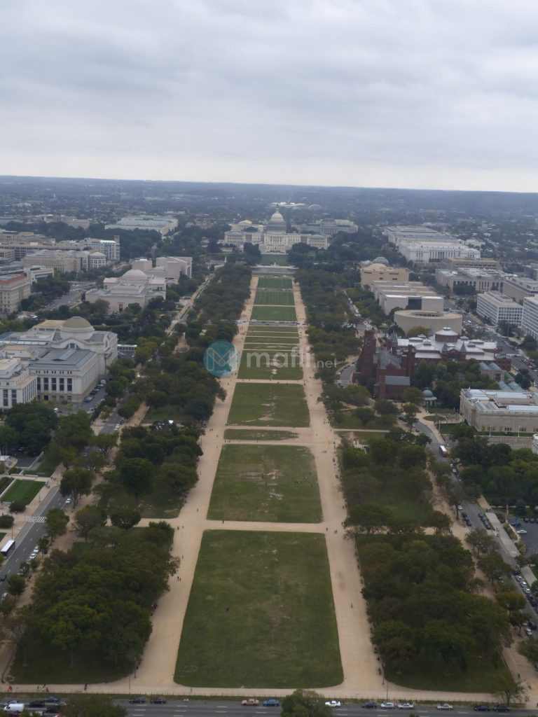 Washington Monument, Ausblick zum Capitol