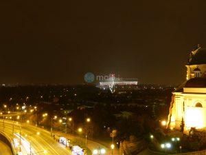 Warschau, Blick aus Hotelzimmer am Abend