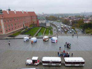 Warschau, Blick aus Hotelzimmer am Tag
