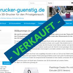3DDrucker-guenstig.de: Verkauft
