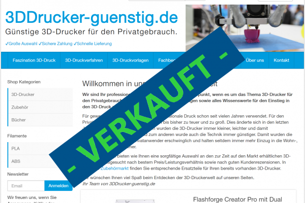 3DDrucker-guenstig.de / verkauft